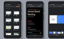 Google文档表格和幻灯片可在Android上进入深色模式